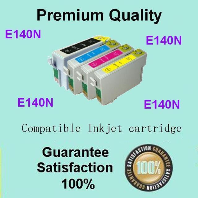 4 x Ink Cartridge Epson 140N for Stylus NX635,Workforce 60 525 545 625 630 633