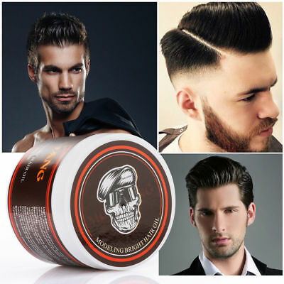 Men Hair Styling Oil Wax Hair Gel Retro Modeling Bright Strong Hold Pomade US