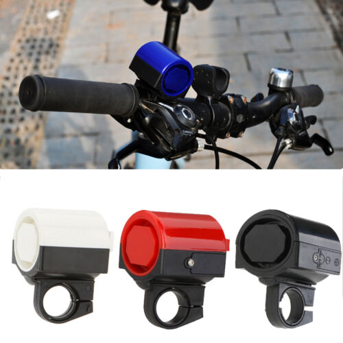 Bicycle 4 Tones 6 LED Electronic LED Warning Lights Siren Horn Beeper Bell J7P7