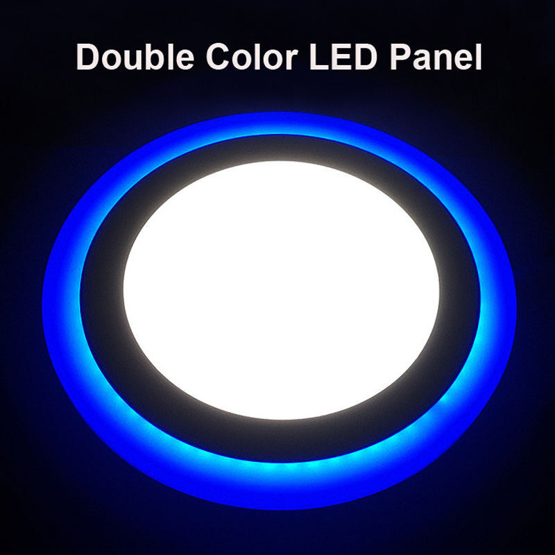 LED Panel Lights Round Ultra Thin Ceiling Down Surface Mounted Lamp 18 + 6 W