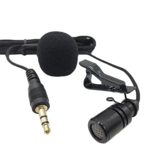 3.5mm Stereo Jack Plug Mini Condenser Microphone Lapel Tie Clip On Mic Black2017