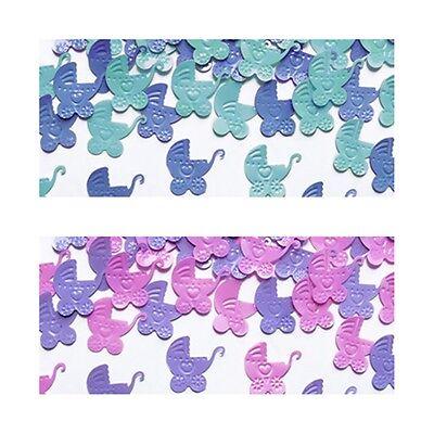 n Baby Taufe Geburt Dekoration Tischdeko Konfetti blau rosa (Blau Taufe Dekorationen)