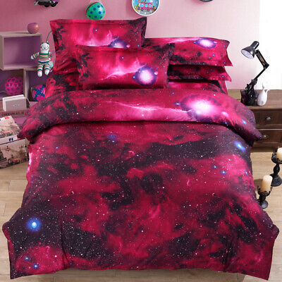Bedding Set Twin Full Size Galaxy Space Duvet Comforter Cover Set Pillowcases ()