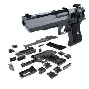 DIY Building Blocks Toy Gun Desert Eagle Assembly Toy Puzzle ( Comparable with Lego) Free SHipping