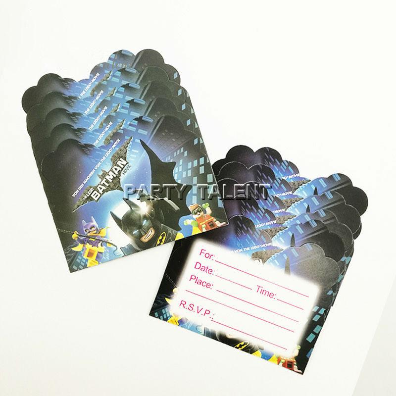 Batman Theme Invitation Card Invitations For Kids Birthday P