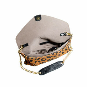 "J CREW Leopard SUEDE ""Invitation"" Envelope CLUTCH/CROSSBODY London Ontario image 3"