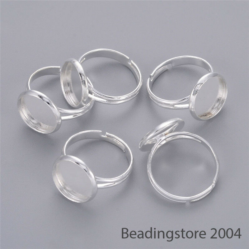 "Hoop Earwires or Charm Rings 1//2/"" 100 Small Silver Plated Brass 12mm"