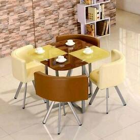 Glass dining sets 4 and 6 sets available various designs