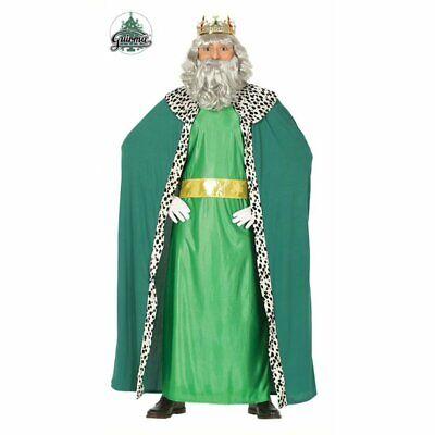 41688 - Costume Uomo Adulto Taglia L 52-54 Re Magi Magio Melchiorre Natale Prese
