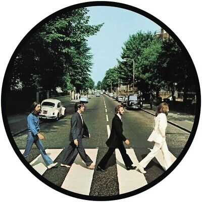 THE BEATLES ABBEY ROAD VINYL STICKER 100MM ROUND 4