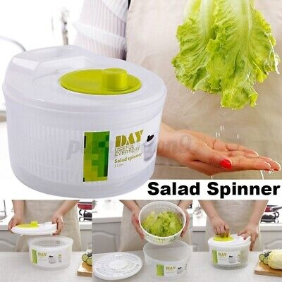 Large Plastic Salad Spinner Leaf Dryer Lettuce Herb Vegetabl