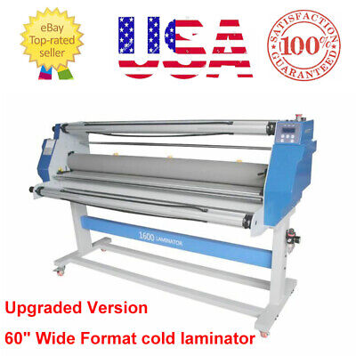 Upgraded 60 Full-auto Low Temp Wide Format Cold Laminating Machine - Usa Stock