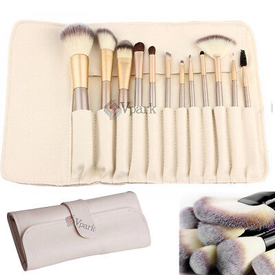 12pcs Pro Makeup Brushes Set Cosmetic Eyeshadow Powder Foundation Lip Brush Tool