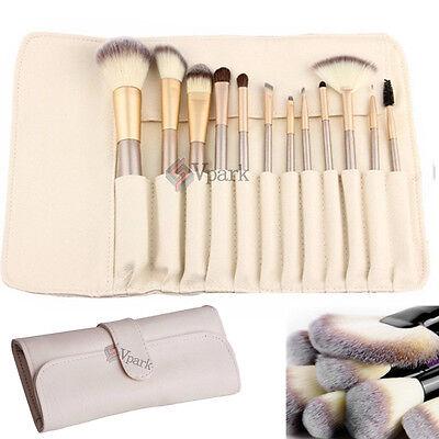 12pcs Pro Makeup Brushes Set Cosmetic Eyeshadow Powder Foundation Lip Brush Tool