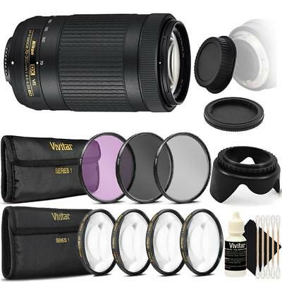 Nikon AF-P DX NIKKOR 70-300mm f/4.5-6.3G ED VR Lens and Accessory Kit