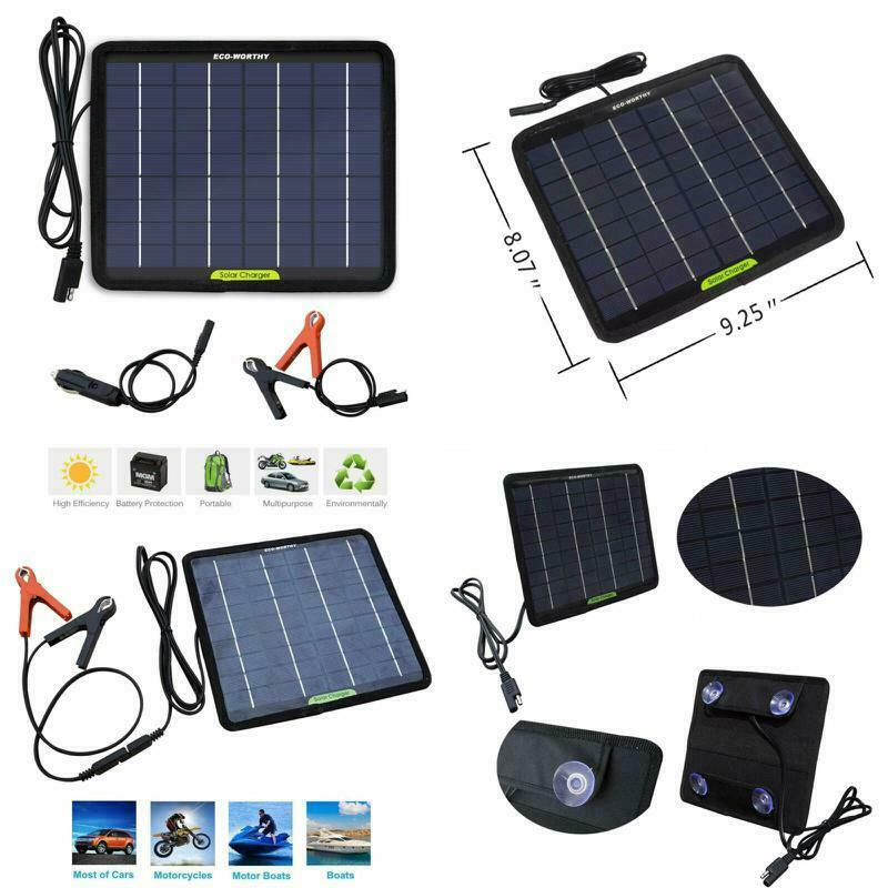 Solar Powered Panel Battery Charger Maintainer Car Marine Bo
