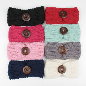Brand New 3 Crochet Turban Headband Baby with a pair of clips