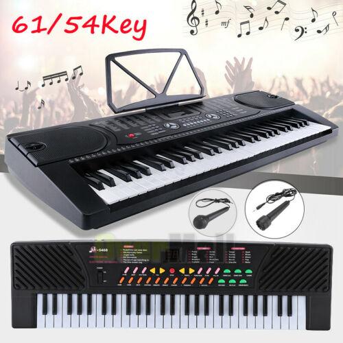 61/54Key Full Size Electronic Piano Keyboard Electric LCD Au
