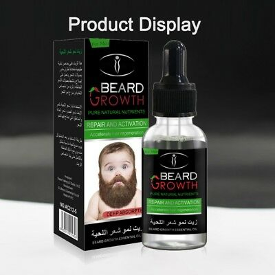 Men Care Natural - 30ml Men's Male Natural Beard Growth Essential Oil Grower Boost Beard Hair Care