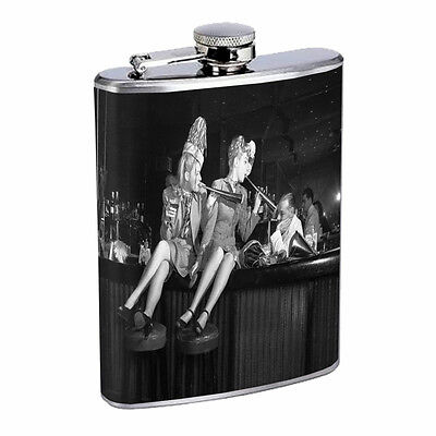 Vintage New Years Eve D4 Flask 8oz Stainless Steel Hip Drinking Whiskey  - New Years Eve Drinks