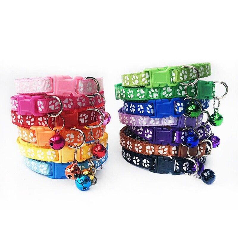 12PCS/Lot Dog Collars Pet Cat Puppy Buckle Belt Strap Nylon