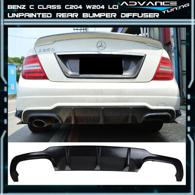 12-14 Mercedes Benz C Class C204 W204 LCI AMG Rear Bumper Lower Diffuser Valance