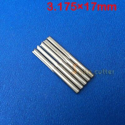 10pcs Double Two Flute Straight Slot Cnc Router Bits Wood Mdf Milling 18 17mm