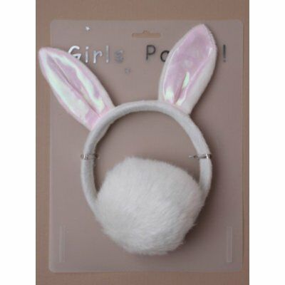 HEN NIGHT / PARTY  Plush Bunny White Rabbit Headband Ears Tail Fancy Dress
