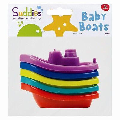 5 X BABY FLOATING KIDS CHILDREN BATH TUB TIME FUN PLAY PLASTIC BOATS TOYS SET