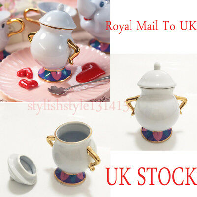 Beauty And The Beast Ceramic Tea Set Mrs Potts Chip Sugar Bowl Sugar Pot Gift UK