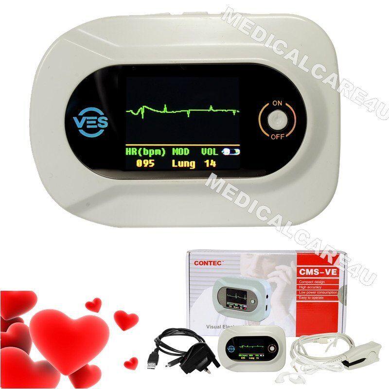 Multi Functional Visual Electronic Stethoscope ECG EKG PR SpO2 Heart Lung Sound