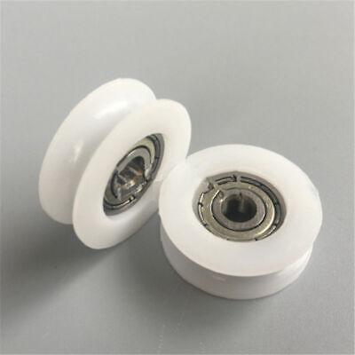 U V Groove Metal Shield Nylon Pulley Wheels Roller Rail Ball Bearings 821mm