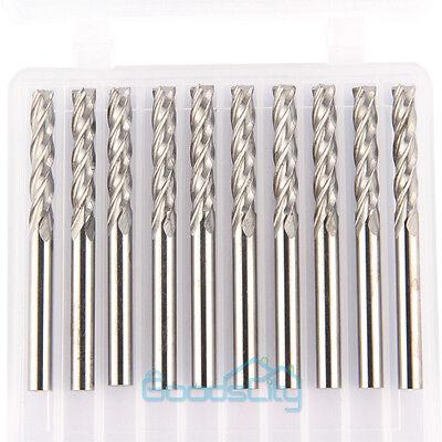 10x Carbide Cnc 4 Flute Spiral Bit End Mill Cutter 18 Shank 17mm Blade Milling