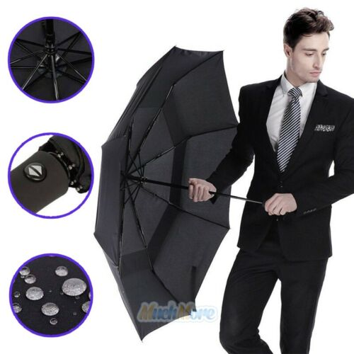 8 Ribs Automatic Folding Compact Umbrella Windproof Men Wome