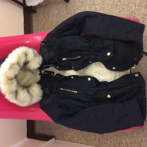 Topshop Navy Blue Winter Jacket