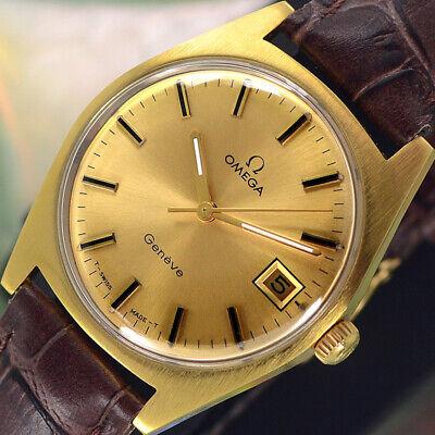 VINTAGE OMEGA Geneve HAND WINDING 17 JEWELS CAL.613 DATE ANALOG DRESS MENS WATCH
