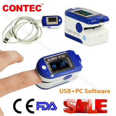 24 Hours Usb Pulse Oximeter Spo2 Pulse Rate Recorder Blood Oxygen Metersoftware