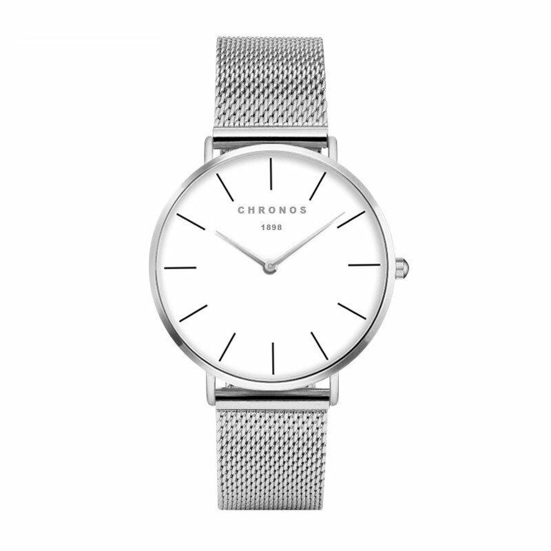 Lord Andrew Chronos - Bright & Silver Edition - Luxury Minimalistic Watch