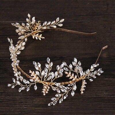Crystal Tiara Wedding Bridal Hair Accessories Headband Pearl