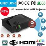 Unic uc46 wifi led projector beamer 1.200 lumen, hdm, hd