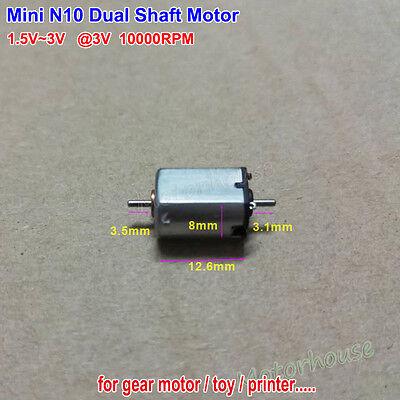 Mini N10 Dual Shaft Motor Dc1.5v-3v 10000rpm Micro 10mm Dc Motor Hobby Toy Diy
