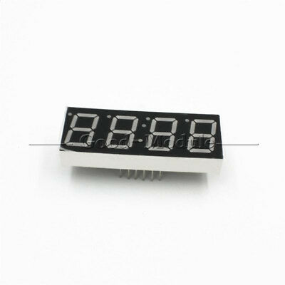 0.56 4 Digit Super Red Led Display Common Anode With Time Display 12 Pins New