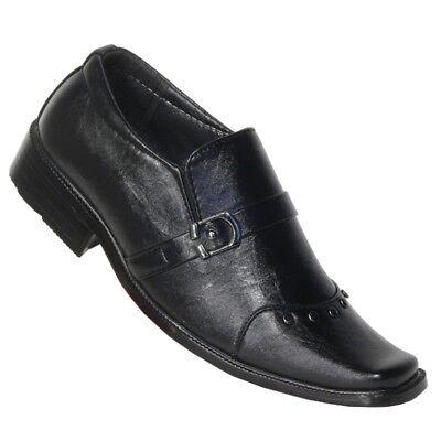 Herren Anzug Schuhe Kommunionsschuhe Halbschuhe Kinder Slipper Halbschuhe D80