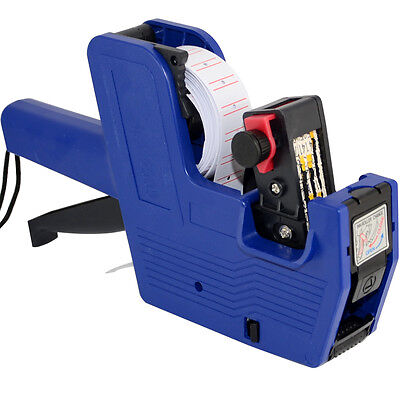 Mx-5500 8 Digits Price Gun Tag Machine Labeler Blue 1 Roll Blank Labels 1 Ink