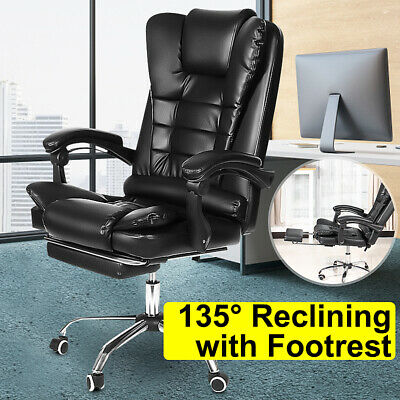 High Back Office Chair Gaming Chair Executive Recliner Computer Swivel Desk Seat