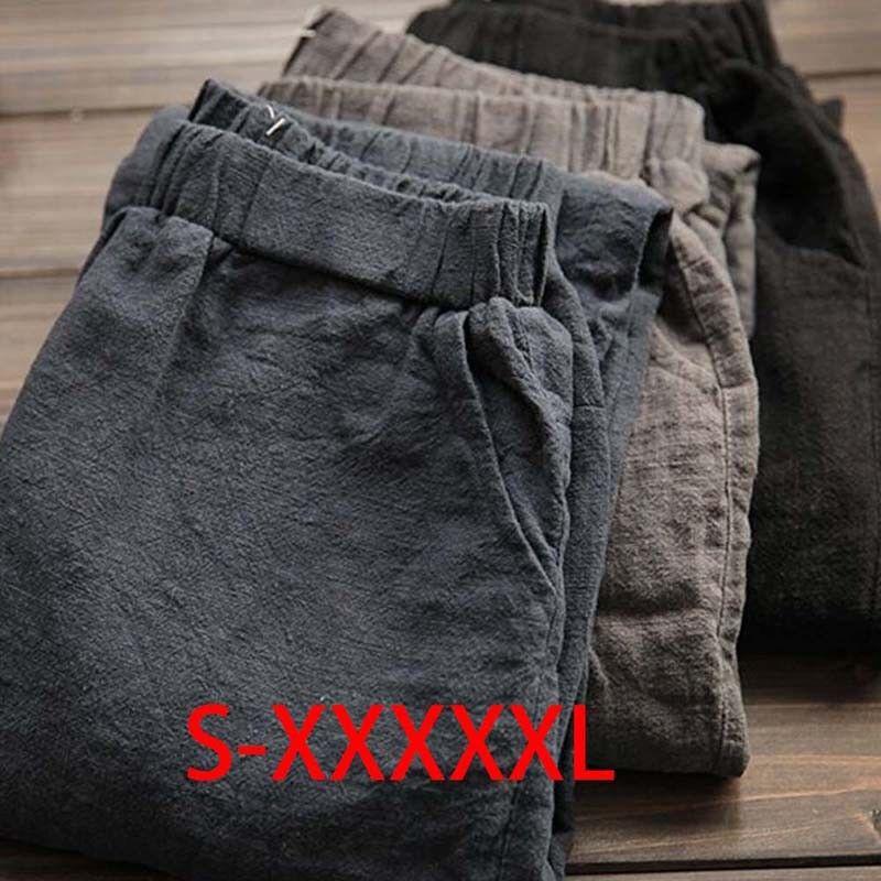 Women Cotton Pants Loose Casual Harem Pants Plus Size Vintag