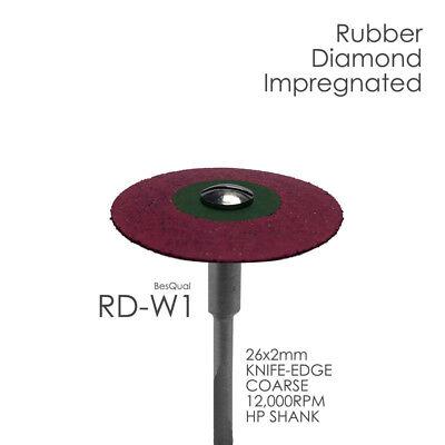 Dental Lab Diamond Rubber Wheel Rd-w1 Coarse 5-piece For Zirconia Porcelain