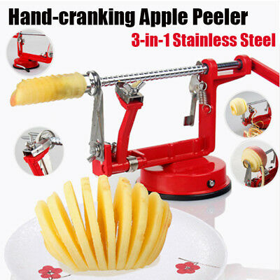 3in1 Hand-crank Fruit Apple Peeler Corer Slicer Slinky Machine Potato Cutter Bar