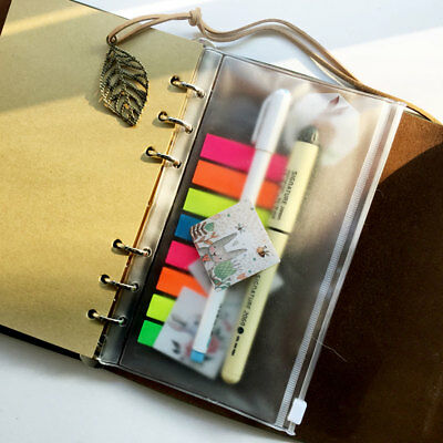 Zip Lock Envelope Zippered Binder Pocket Wallet Insert Refill Organiser A5a6a7