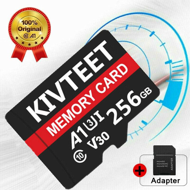 256GB Micro Memory SD Card Fast 4K Class10 A1 U3 Flash TF Card with Free Adapter